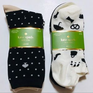 Kate Spade 6 Pairs Socks Lot Ankle & Crew Size